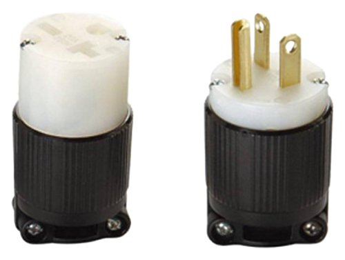 OCSParts 6-20 NEMA 6-20 Plug and Connector Set - Rated for 20A, 250V, 3-Wire, 2 Pole - cUL Listed (Pack of 2) by OCSParts