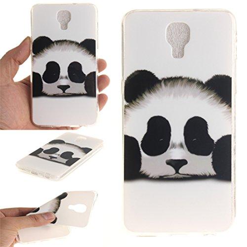 Hozor LG X Screen Cas, Motif Peint TPU Souple En Silicone Couverture Arrière Slim Fit Antichoc Scratch Résistant Cas De Téléphone De Protection Bord Transparent panda