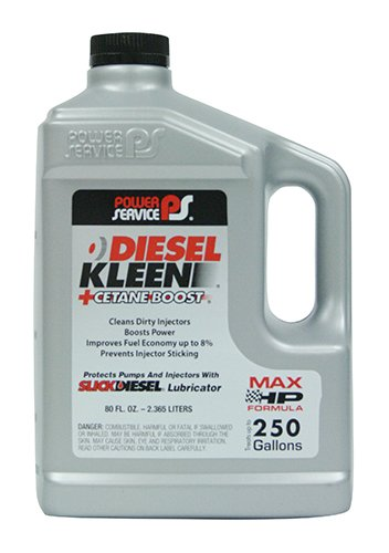 (Power Service 03080-06-6PK +Cetane Boost Diesel Kleen Fuel Additive - 80 oz, (Case of 6))