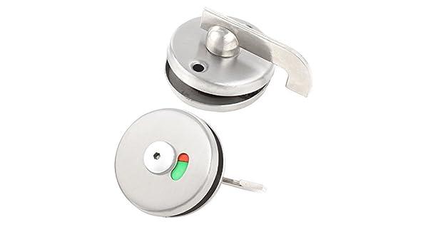 Silver Tone WC aço inoxidável Household Doorknob Pública Fechadura - - Amazon.com