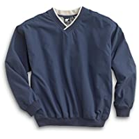 WH. Bear Men's Fully Lined V-Neck Golf and Wind Shirt - Many Colors Available