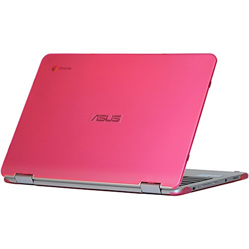 mCover iPearl Hard Shell Case for 12.5-inch ASUS Chromebook Flip C302CA Series Laptop - Pink