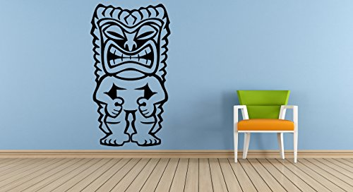 Wall Vinyl Sticker Decals Mural Room Design Decor Pattern Tiki Bar Statue Hawaii Symbol Mask Island mi340