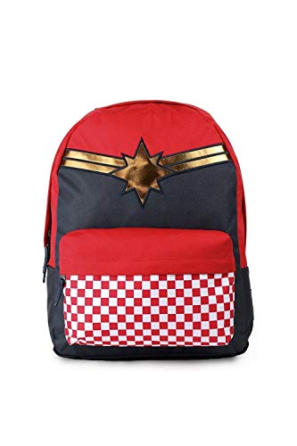 Vans CAPTAIN MARVEL Backpack Racing Red Schoolbag VN0A3QXFIZQ Vans MARVEL Bags