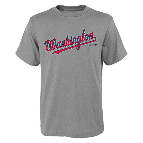 MLB  Washington Nationals Youth Boys 8-20 Wordmark Tee-M (10-12) – DiZiSports Store