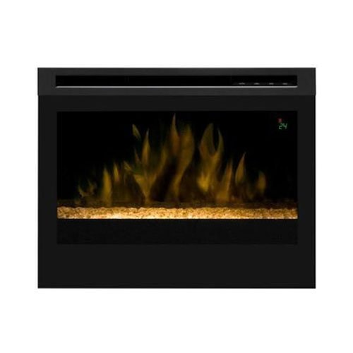 Dimplex DF2524G Electric 25-Inch Firebox Insert with Glass Ember Bed, Black