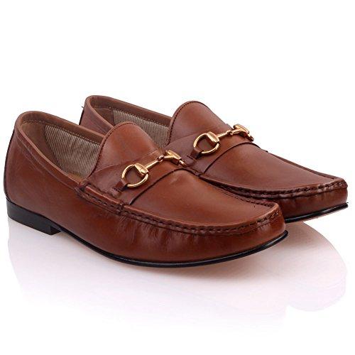 Unze Formal cuero zapatos de vestir para hombre ' Neirien ' Marrón
