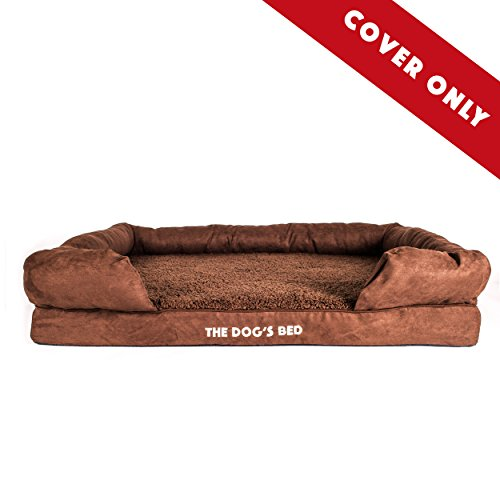 Replacement Cover & Waterproof Inner (Covers ONLY - NO Bed) for The Dogs Bed Orthopedic Memory Foam Dog Bed. Washable Quality Plush Fabric, Extra Large: (Brown Plush)