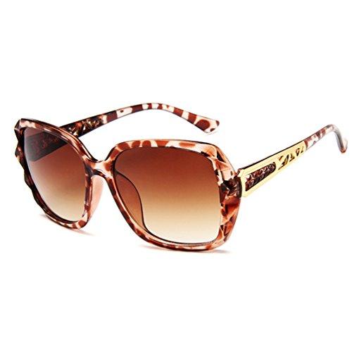 de Oversized Club Eyewear Sol Hombres Gafas Grandes Mujer Sunglasses Retro LINNUO Leopardo Unisex EqAUff