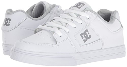 Pictures of DC Pure Elastic Skate Shoe White 5 M US Big Kid ADBS300385 4