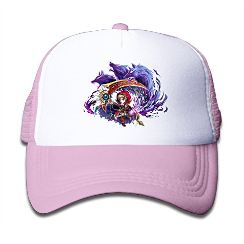 MEGGE Brave Frontier 3 Fitted Child Grid Cap Pink