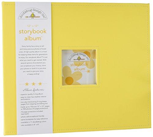 Doodlebug Design Bumblebee Storybook Albums, 12 by 12-Inch
