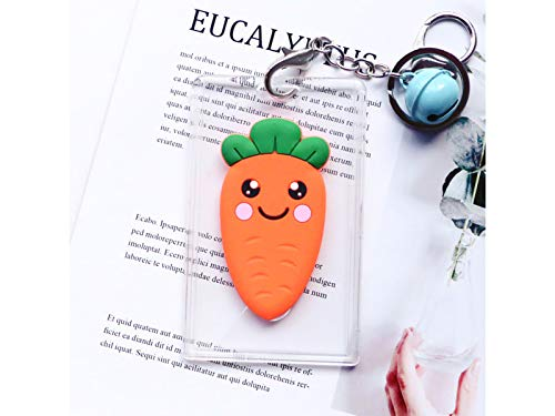 Credit Card Wallets ID Card Holders Plastic Cartoon Carrot Bus Pass Credit Card Cover Case Key Badge Covers Breakaway Clip-Orange 2 Badge Holder