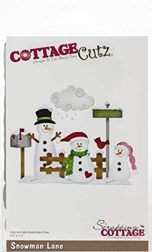 CottageCutz Die-Snowman Lane 4.2