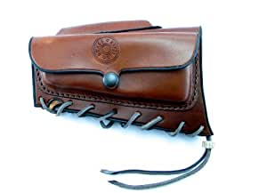 Brass Stacker M2447ACLH Rick Lowe Leather Ammo Carrier with Cheek Rest for Mauser M24/47 and VZ. 24 Rifles, Brown