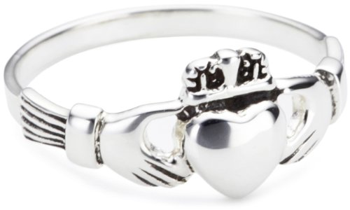 Heritage Women's Sterling Silver Celtic Irish Claddagh Ring - Size - K