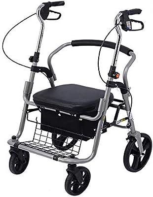 H.Slay caminador Adulto Andador de Movilidad con Asiento Plegable ...