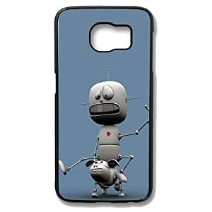 Samsung Galaxy S6 Edge Case - Funny Robot Slim Bumper Case with Soft Flexible TPU Material for Samsung Galaxy S6 Edge Black