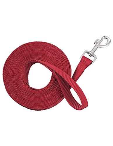 Lunge Line - Tough 1 Tough-1 Nylon Web Lunge Line, Red