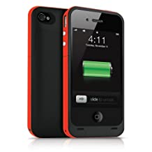 Febe 2500mAh External Backup Power Battery Charger Case Cover For iPhone 5 5S - Red