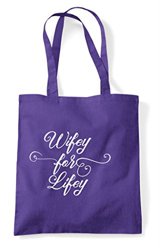Hen Purple Personalised Tote Customised Bag Party Lifey Wifey Hen Shopper For Do Z6UTq