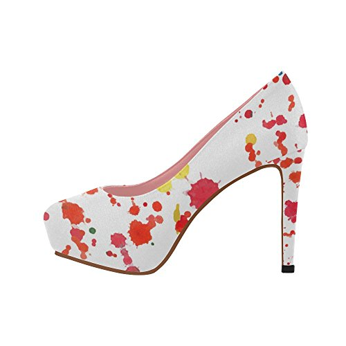 Pumps InterestPrint Catcher Color5 Heel Leaf Colorful Womens Graffiti Pattern Ethnic Dream Shoes High Wedge Prin PWrISnaRW6