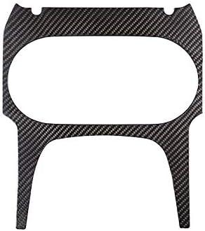 Real Carbon Fiber For Porsche Cayenne 2018 2019 Car Center Console Cup Holder Panel Cover Trim Accessories