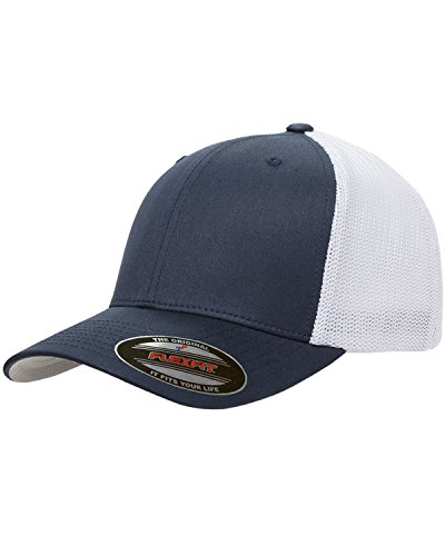 Maddmax Car Art 1948-53 Dodge Pickup Truck Classic Outline Design Flexfit Trucker Hat Cap Navy/White