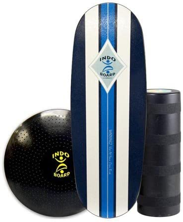 INDO BOARD Pro Training Package Balance Board Designed for Tall Riders Over 6 Feet for Fitness Training, Surf Training, or Just Having Fun – 3 Color Choices