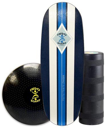INDO BOARD Pro Training Package Balance Board Designed for Tall Riders Over 6 Feet for Fitness Training, Surf Training, or Just Having Fun - Surf Classic Design