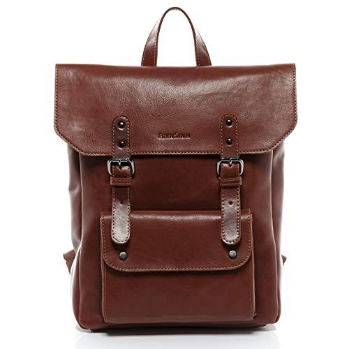 portés sacs voyage Feynsinn sac cuir backpack mince PHOENIX pouces véritable à marron dos scolaire ville 14 dos grand 1q1PRC
