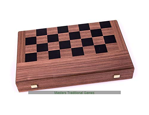 Manopoulos Walnut Chess and Backgammon Set in Folding Case