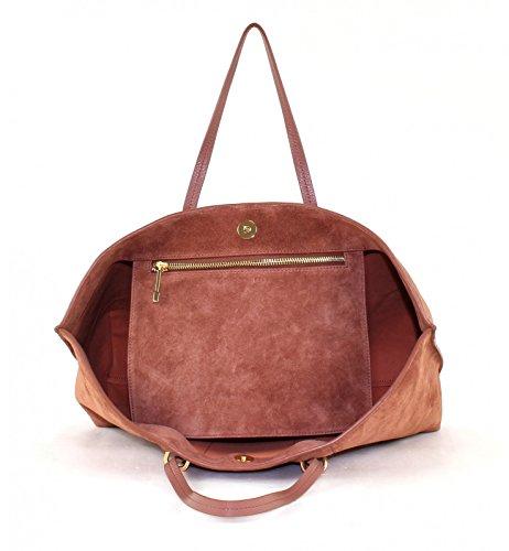COCCINELLE Iggy Suede Shopper Borsa Bag Terra