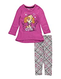 """Paw Patrol Little Girls' Toddler """"Cute Pup Pals"""" 2-Piece Outfit"""