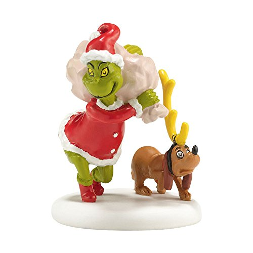 Department 56 Grinch Village Next He Loaded Some Bags Accessory Figurine, 2.5 inch