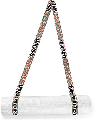 RNK Shops Fox Trail Floral Yoga Mat Strap (Personalized) by RNK Shops