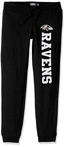(NFL Baltimore Ravens Women's Ots Fleece Pants, Small, Purple)