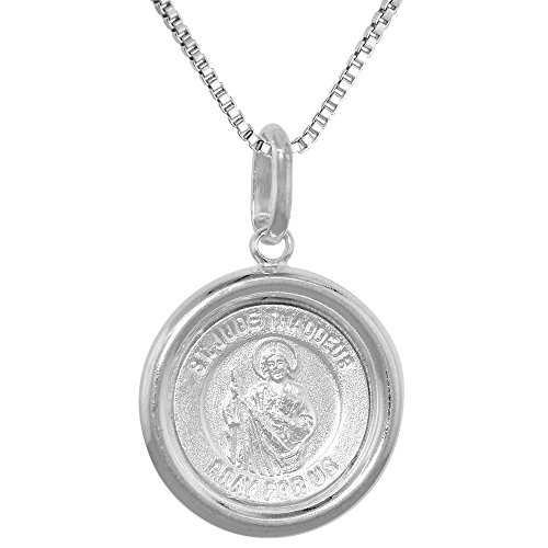 Sterling Silver Medal Necklace Round