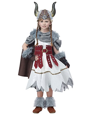 California Costumes Valorous Viking Girl Costume, Multi, Small -