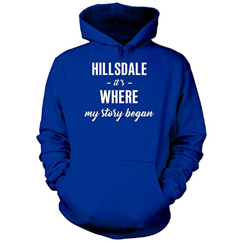 Inked Creatively Hillsdale It's Where My Story Began Cool Gift - Hoodie Royal - Hillsdale Shops