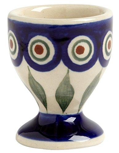 blue-peacock-handmade-ceramic-egg-cup-manufaktura-w-boleslawiec-genuine-hand-painted-polish-pottery