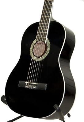 Original Ashley Set guitarra clásica color: Piano Black +, funda ...