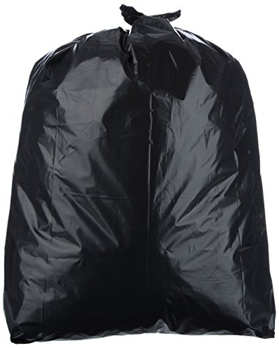AmazonBasics 42 Gallon Contractor Trash Bag, 3 mil, Black, 75-Count