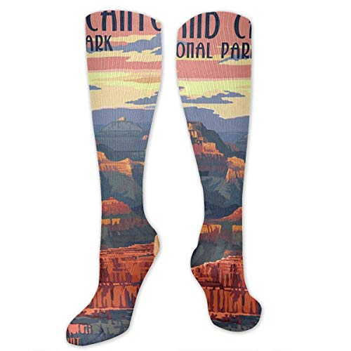 """Grand Canyon National Park - Mather Point Compression Sock for Women & Men - Best for Running, Athletic Sports, Flight Travel 19.68"""""""