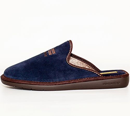 Chaussons Homme Nordika (44, Velour Blue)