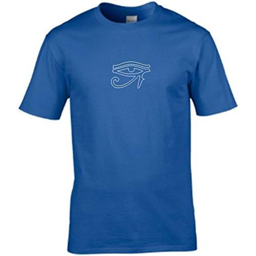 S Tees - Camiseta - Cuello redondo - Manga Corta - para hombre azul cobalto
