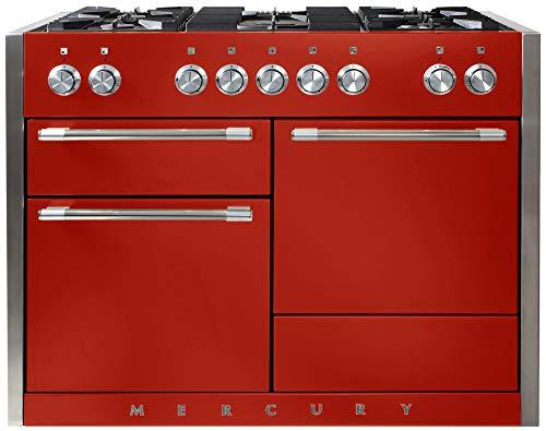 "AGA Mercury Dual Fuel Range, 48"" Wide, Multi-Oven, 5 sealed burners, Scarlet"