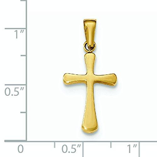 Pendentif Croix poli or 14carats