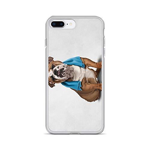 iPhone 7 Plus/8 Plus Case Anti-Scratch Creature Animal Transparent Cases Cover Bull Animals Fauna Crystal Clear