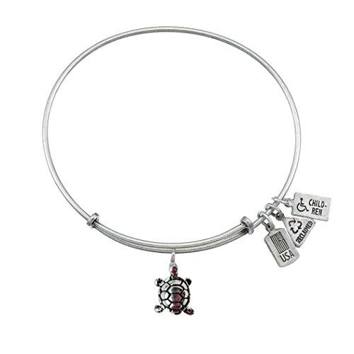 Vent et Fire 3d Tortue Silvetone Bracelet charm Finition